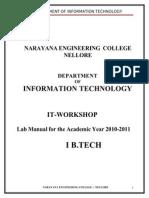 IT WorkShop Lab Manual