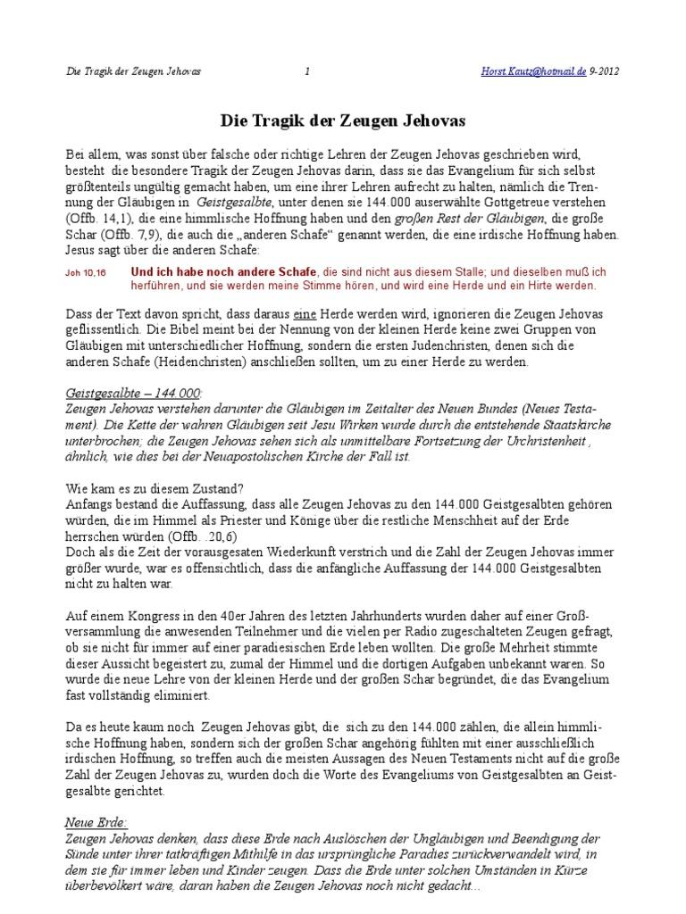 Die Tragik Der Zeugen Jehovas