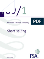 Financial Services Authority Short Selling