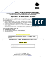 Application TEA