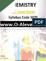 O Level Chemistry Notes