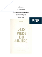 Aux Pieds du Maitre, par Alcyone (1909)