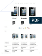 Apple - iPhone 5 - Compare Specifications Between iPhone Models