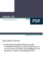 Article 7 the Executive Department