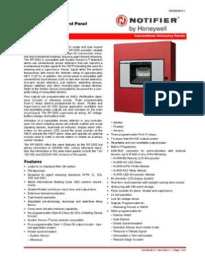 Notifier RP2002 DATA SHEET | Amplifier | Relay