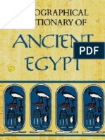 Rosalie & Antony E.david.......a Biographical Dictionary of Ancient Egypt (by House of Books)