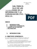 PLAN ANUAL PARA EL DESARROLLO DE LA TECNOLOGÍAS DE LA INFORMACIÓN Y LA COMUNICACIÓN