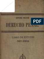 MEZGER - Derecho Penal, Parte General