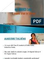 Aarushi Talwar MURDER Case Final Ppt