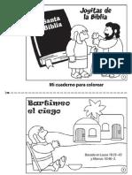 Bartimeo El Ciego - Libro Para Colorear