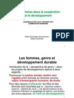 Genre et coopération (Marie-Dominique de Suremain)