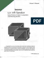 AudioSource LS 100 Speakers