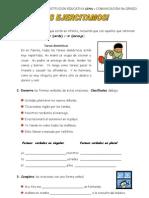 6to. Grado - Lenguaje - Guia 1 - El Verbo-conjugacion y Modos