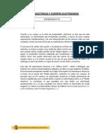 INFORME N° 01 - CARGAS ELECTRICAS Y CUERPOS ELECTRIZADOS