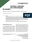 Coleta de amostras e métodos analíticos para determinação de chumbo OK