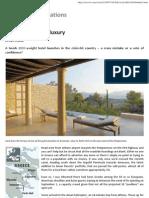 Greece Resorts to Luxury