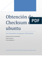 Obtecion de Checksum, Plataforma Ubuntu