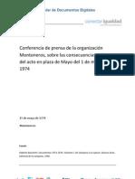 Conferencia de Prensa Montoneros 1974 (1)