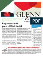 Glenn Rivera, Representante Distrito 36 - Puntos Relevantes del Programa de Legislación