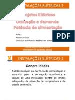 (Aula3 Instalações Elétricas 2_Demanda - Potência de Alimentação)