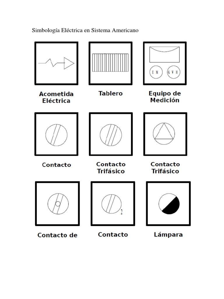 Simbología Eléctrica en Sistema Americano