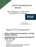 The Customer Development Model