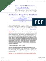 Electrolysis Cleaning Method