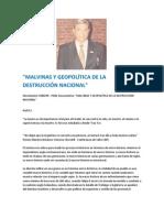 """""""MALVINAS Y GEOPOLÍTICA DE LA DESTRUCCIÓN NACIONAL"""" - Horacio Ricciardelli"""