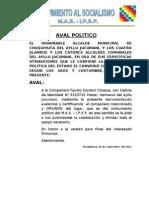 Aval Politico Del Mas