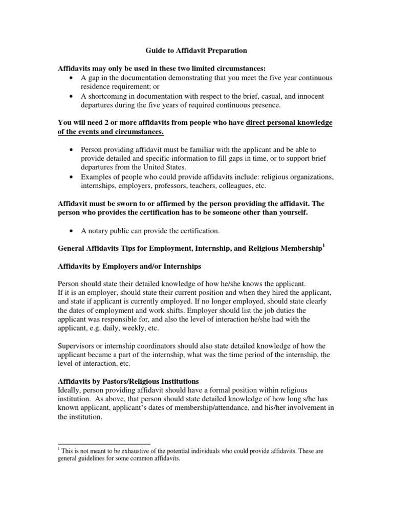 Enchanting Affidavit Of Support Brief Images - FORTSETZUNG ...