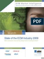 AIIM_State of ECM Market 2009