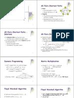 אלגוריתמים- הרצאה 8 | All Pairs Shortest Paths Problem