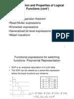 תכן לוגי מתקדם- הרצאה 3 (עוד המשך)   Functional Classification