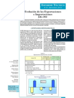 Exportaciones e Importaciones Julio 2012