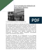 Aproximación al concepto de mediación de Jesús Martín Barbero