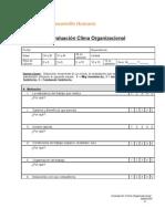 Evaluacion Clima Organizacional