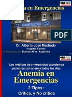 Anemia en Emergencias