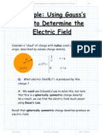 Example Using Gauss Law to Determine the Electric Field