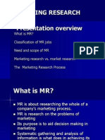 Marketing Research (Mr) 1