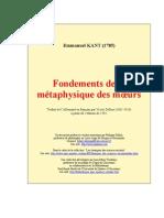 Kant Fondements de La Metaphysique Des Moeurs
