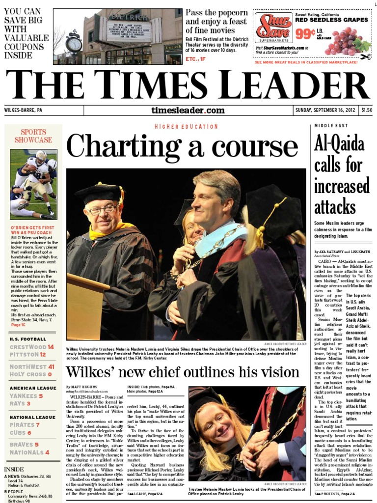 Times Leader 09-16-2012 | Foster Care | Wind Power