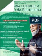 Memoria Liturgica di S. Pio da Pietralcina,  23 Settembre 2012
