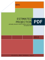 Estimated Projection of Apparel Production