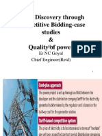 Case Studies on Tariff Discovery Through Competitive Bidding,Of Power