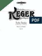 Reger 6 Pieces 4 Hands