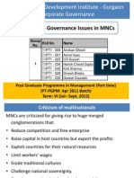 CG Issues in MNC Final