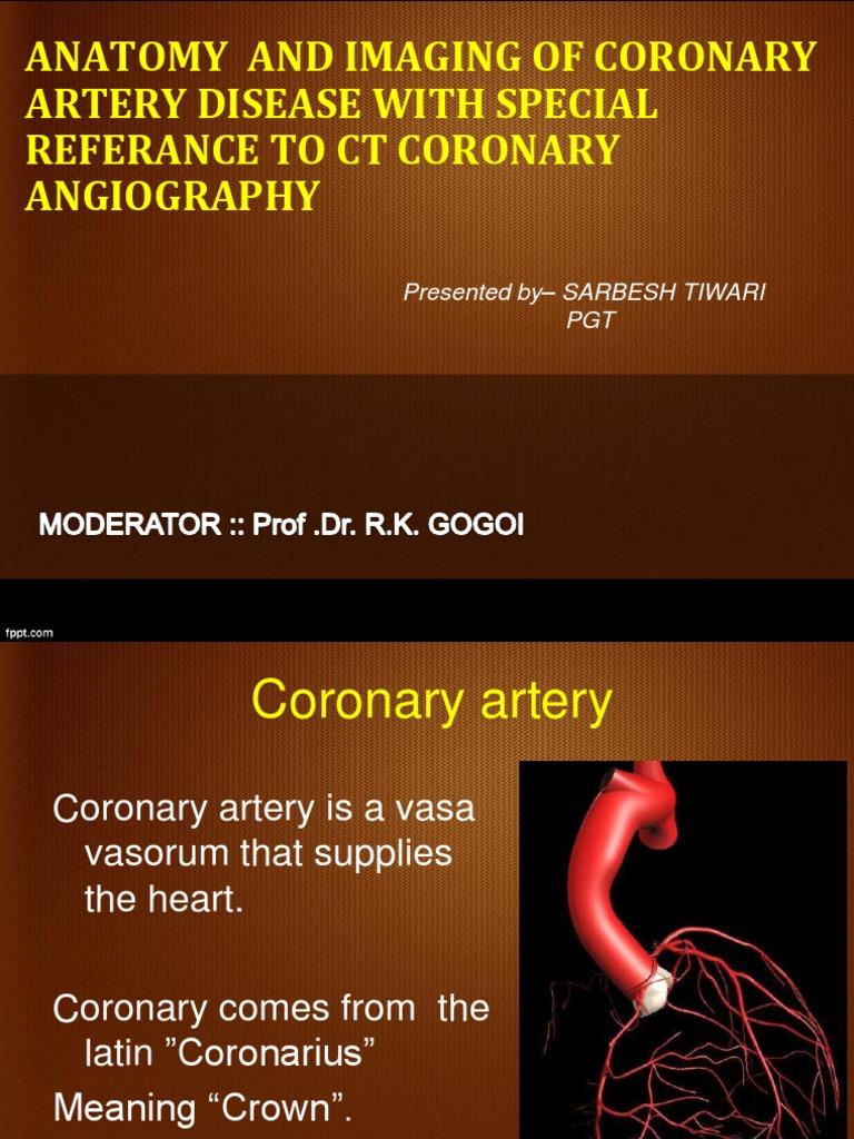Anatomy and Imaging of Coronary Artery Disease With | Angina ...