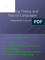 Learning Theory and Natural Languages