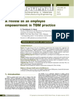 role of employees empowerment on tqm