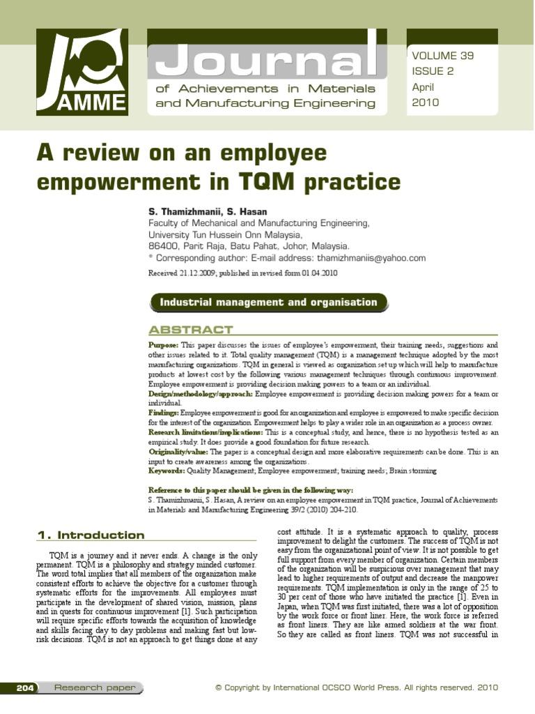 tqm research paper